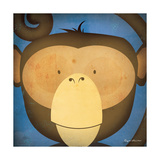 Monkey Wow Premium Giclee Print by Ryan Fowler