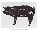 Schwein Kunstdrucke