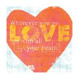 Letterpress Love Giclee Print by Sue Schlabach