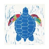 Sea Creature Turtle Color Poster van Courtney Prahl