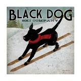 Black Dog Ski Kunst von Ryan Fowler