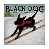 Black Dog Ski Posters por Ryan Fowler