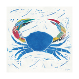 Sea Creature Crab Color Giclee Print by Courtney Prahl