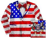 Long Sleeve: American Tuxedo Costume Tee T-skjorter