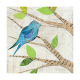Birds in Spring I Square Giclee Print by Courtney Prahl