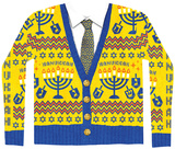 Long Sleeve: Ugly Hanukkah Sweater Costume Tee Skjorte