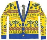 Long Sleeve: Ugly Hanukkah Sweater Costume Tee - T-shirt