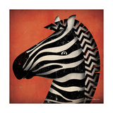 Zebra Wow Giclee Print by Ryan Fowler