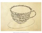 Alice im Wunderland, Teetasse, Englisch Kunstdrucke