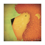 Lion Wow Premium Giclee Print by Ryan Fowler