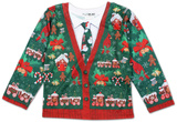 Toddler Long Sleeve: Ugly Xmas Cardigan Costume Tee Shirts