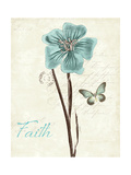 Slated Blue III Faith Print by Katie Pertiet