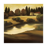 Country Lake Vista Giclee Print by Tim Howe