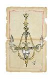 Marche aux Puces - Lustre I Premium Giclee Print by Susan Gillette