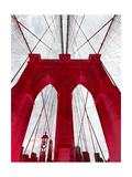 Brooklyn Bridge Red Giclee Print