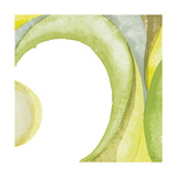 Lime Geometric II Premium Giclee Print by Chris Paschke