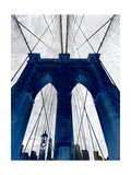 Brooklyn Bridge Blue Giclee Print