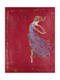 Dancer in Blue IV Premium Giclee Print by Marta Wiley