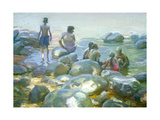 River Rocks Giclee Print by John Asaro