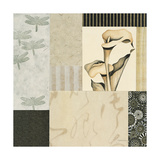 Collage with Calla Lillies 3 Giclee Print by Julieann Johnson