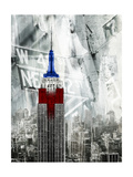 Patriotic Empire State Giclee Print