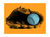 Baseball and Glove Giclee Print