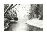 Quiet Winter Day Giclee Print by Jill Tishman