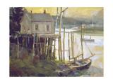 Port Clyded Maine Giclée-tryk af Ted Goerschner