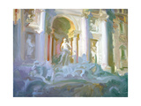 Trevi Fountain Giclee Print by John Asaro
