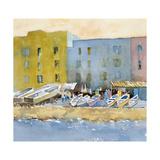 Capri Harbor I Giclee Print by Barbara Maiser