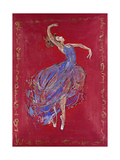 Dancer in Blue I Premium Giclee Print by Marta Wiley