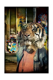Tiger on the Prowl Giclee Print