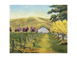 Cline Plum and Yellow Giclee Print by Kay Carlson