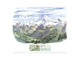 Koma Kulshan, Great White Watcher, Mt. Baker, 160' South South East from the High Divide Trail Giclee Print by Tony Foster