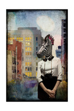 Zebra Strolling the High Line Giclee Print