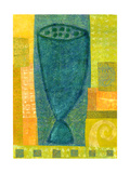 Blue Chalice Rhythms Giclee Print by Doris Mosler