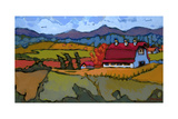 Pleasant Valley Farm Premium Giclee Print by Don Tiller
