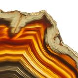 Cadmium Orange Agate A Photographic Print by  GI ArtLab