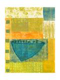 Blue Vase Rhythms Reproduction procédé giclée par Doris Mosler