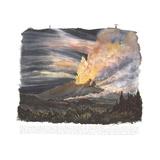 Hawaiian Volcano Erupting Giclee Print by Tony Foster