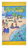 The New Yorker Beach Scene Towel Towel by Barbara Westman