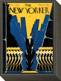 The New Yorker Cover - October 17, 1925 Framed Print Mount by Max Ree
