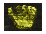 Baseball Glove Yellow Giclee Print