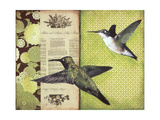 Hummingbirds Giclee Print by Katrina Whitney