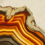 Cadmium Orange Agate B Photographic Print