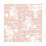 Floral Script Giclee Print by Jill Meyer