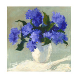 Blue Hydrangea Bouquet Giclee Print by Dale Payson