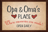 Opa and Omas Place Poster Posters