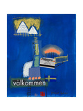Valkommen Collage Giclee Print by Bruno Haas