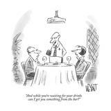 """""""And while you're waiting for your drinks can I get you something from the…"""" - New Yorker Cartoon Premium Giclee Print by Christopher Weyant"""
